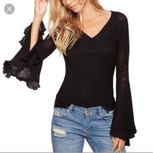 New free people so dramatic bell sleeve sweater